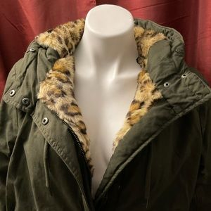 Faux fur lined forever 21 snow  jacket